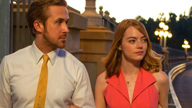 """La La Land - 14 номинации през 2017 г.  Тазгодишният фаворит изравни рекорда по номинации с шанс за победа в почти всяка от най-важните категории, включително за най-добър филм и режисура. Ако прогнозите се оправдаят - нищо чудно La La Land да подобри постижението на """"Титаник"""". Затова нямаме търпение да дойде време за нощта на """"Оскарите""""."""