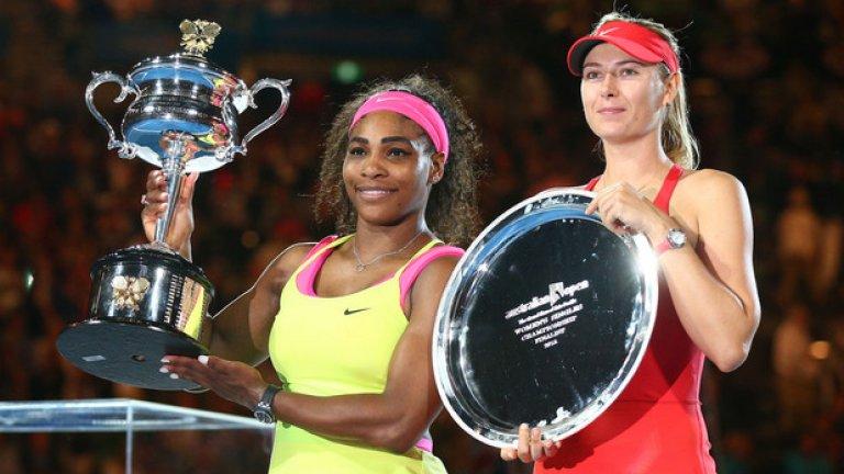 Серина Уилямс се намира в серия от 18 поредни победи над Мария Шарапова