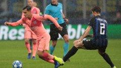"Барселона не беше далеч от втора победа над Интер, но ""нерадзурите"" взеха точка"