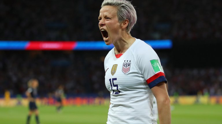 Меган след един от головете си в четвъртфинала срещу Франция