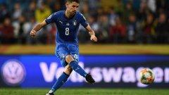 Жоржиньо вкара победно за Италия от дузпа.