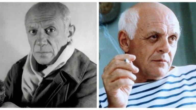 """Пабло Пикасо и Антъни Хопкинс, """"Да устоиш на на Пикасо""""  Хопкинс е великолепен в главната роля, пресъздавайки Пикасо като съвършен, манипулативен егоист, който използва влиянието си над жените за да подхранва както творческите си импулси, така и неутолимите си сексуални щения."""