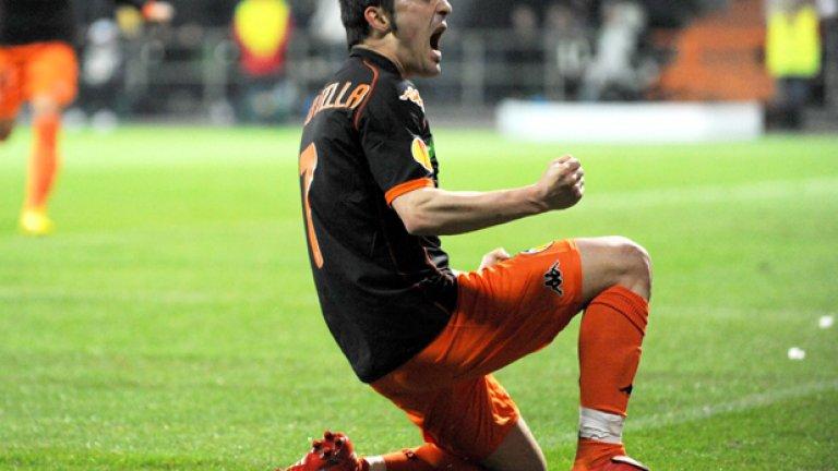Давид Вийя изигра поредния си феноменален мач за Валенсия и вкара три гола на Вердер