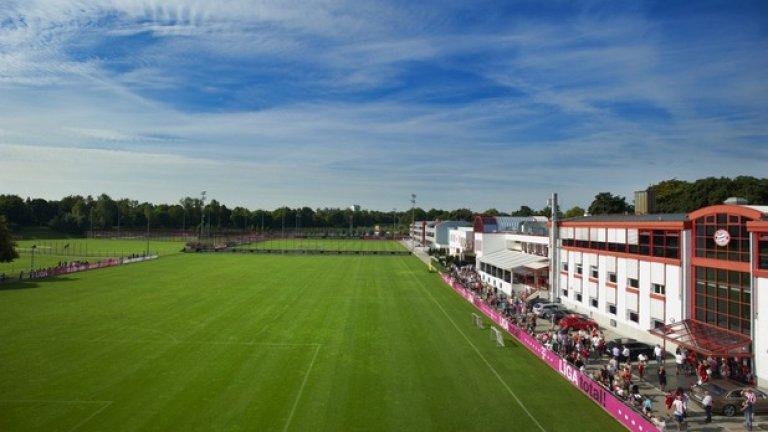 Sabener Strasse, Байерн Мюнхен Комплексът е на площ от 80 хил. кв. м. Както може и да се очаква, всичко в базата е последен вик на спортната мода.