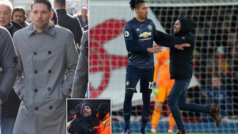 Купър се призна за виновен, че е навлязъл непозволено на игрището по време на мача, но отрече обвиненията, че е блъснал бранителя на Юнайтед Крис Смолинг.
