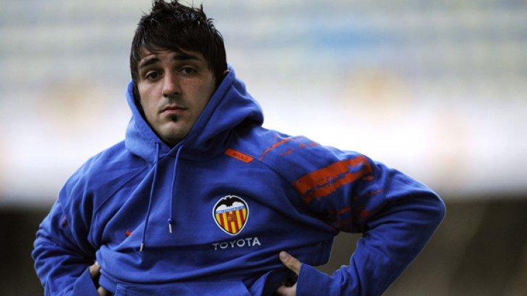 Давид Вия съблече екипа на Валенсия срещу сумата от 40 милиона евро