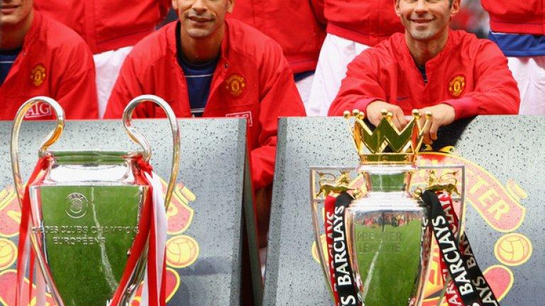 """4. Райън Гигс - 35 Уелсецът е най-успелият играч в историята на футбола на Острова. През цялата си кариера игра само за Манчестър Юнайтед и навъртя недостижимите 963 мача. Знаменитият Гигс стана шампион на Англия с """"червените дяволи"""" цели 13 пъти!"""