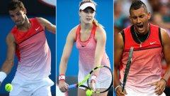 Григор Димитров, Южени Бушар, Ник Кирьос и още куп звезди на тениса се появиха с еднакви екипи на Australian Open...