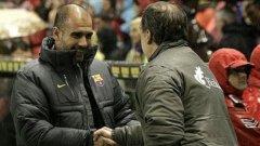 Според треньора на Барселона Хосеп Гуардиола съботният му съперник и негов приятел Марсело Биелса е най-добрият треньор в света!