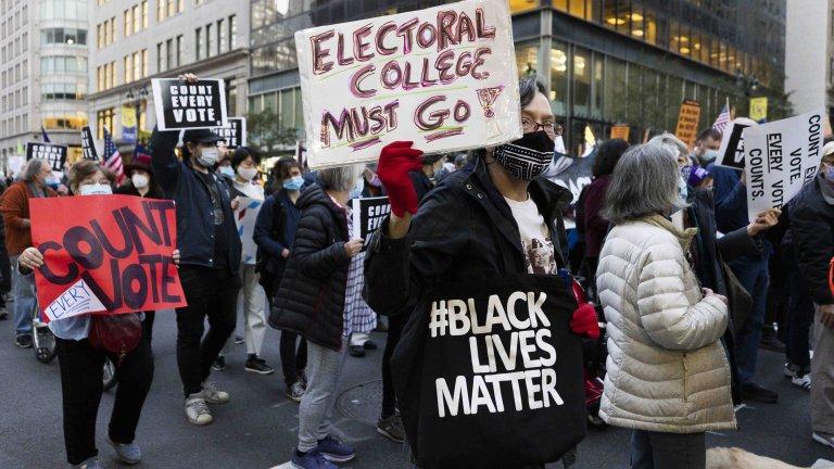 Протестиращи от движението Black Lives Matter в Ню Йорк
