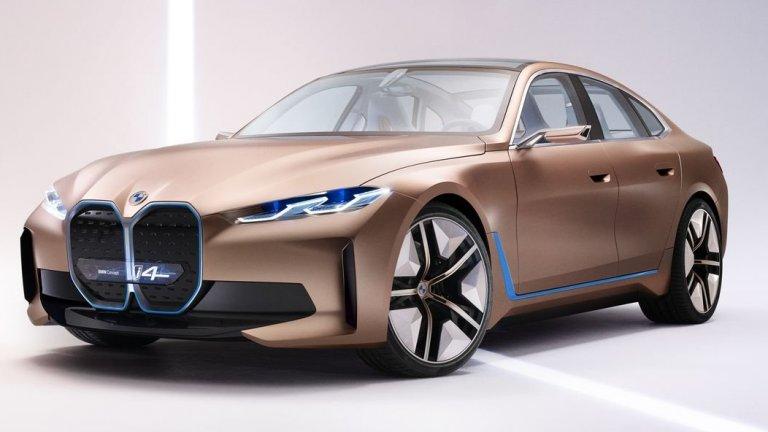 BMW i4Концептуалните кадри на това BMW отнесоха доста шеги, че предницата му напомня на муцуна на бобър, но 2021-а е годината, в която концепцията ще се превърне в реалност. Автомобилът е изцяло електрически и ще се опита да се позиционира в сегмента на луксозните електромобили заедно с Audi e-tron и Mercedes-Benz EQ. i4 ускорява от 0 до 100 км/ч за по-малко от 4 секунди и ще има задоволителен пробег от 590 км с едно зареждане.
