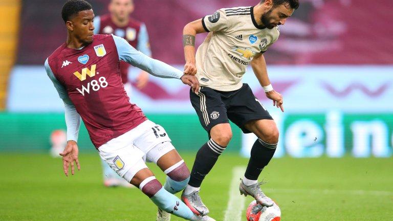 При 0:0 и равностойна игра Бруно Фернандеш стъпи на крака на бранителя Есри Конса, но реферът Джон Мос посочи наказателен удар.