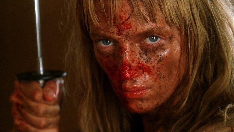 """Незабравимата Ума Търман в """"Kill Bill"""", създадена от Куентин Тарантино. Героинята - Беатрикс Кидо, с нейния жълт анцуг има само една цел - да убие Бил."""
