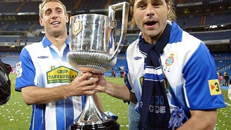 Сабалета и Почетино с Купата на Испания през 2006-а като играчи на Еспаньол.