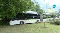 Шофьорът най-вероятно е получил удар, което го е принудило да забие автобуса в близкия парк