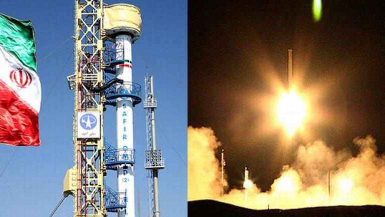 """Изстрелването на първия ирански спътник с ракетата """"Кавошгар - 1"""" постави началото на иранската космическа програма, която се надява в близко бъдеще да изстреля човек в космоса със собствени усилия"""