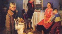 """Картината на Фьодор Решетников """"Отново двойка"""" (1952)"""
