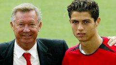 Роналдо игра в Юнайтед в периода 2003-2009.