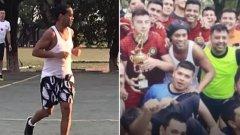 Дори на фона на цялата суматоха във футболния свят, кадрите на ритащия със затворниците Роналдиньо изглеждат съвсем сюрреалистично