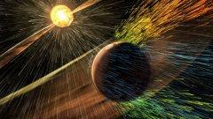 Червената планета е имала атмосфера, но тя е била отнесена от мощна слънчева буря