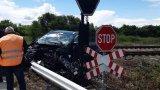 Джип се блъсна във влака София-Варна