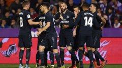 С двата си гола след почивката Бензема донесе обрата и утешителната победа на Реал