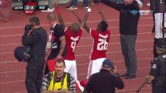 Густаво Кулма и Фернандо Каранга празнуват втория гол във вратата на Левски. Как ЦСКА успя отново да изненада съперника и защо Левски игра толкова отчайващо? Вижте изводите от мача