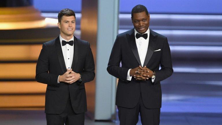 """Рейтингите на церемонията са основна цел, а за това помагат и талантливите водещи. Миналата година Колин Джост и Майкъл Че от """"Saturday Night Live"""" получиха смесени оценки за представянето си."""