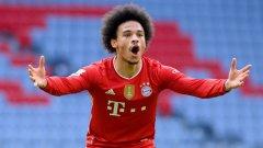 Публично хулен от треньора и без гол от три месеца: Какво се случва с Лерой Сане в Байерн Мюнхен?