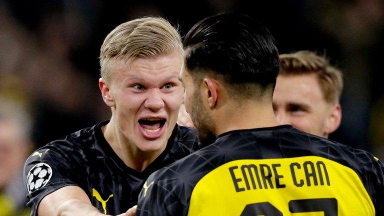 19-годишният Хааланд не спира да бележи и за Борусия, а в дебютния си сезон в Шампионската лига вече има 10 гола