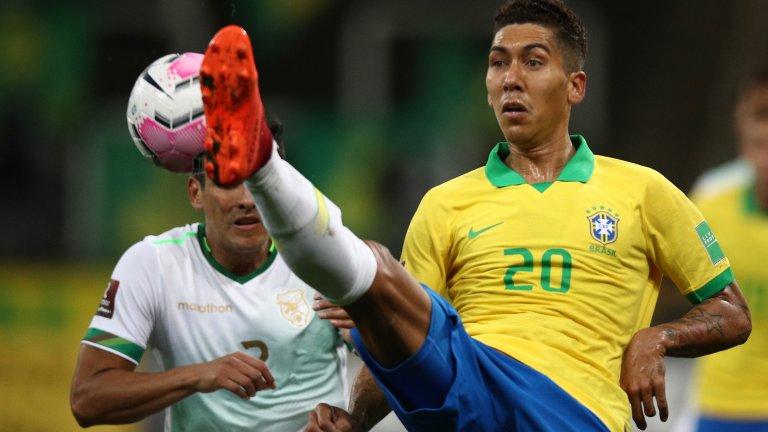 """Фирмино вкара два при летящия старт на """"селесао"""" в квалификациите"""