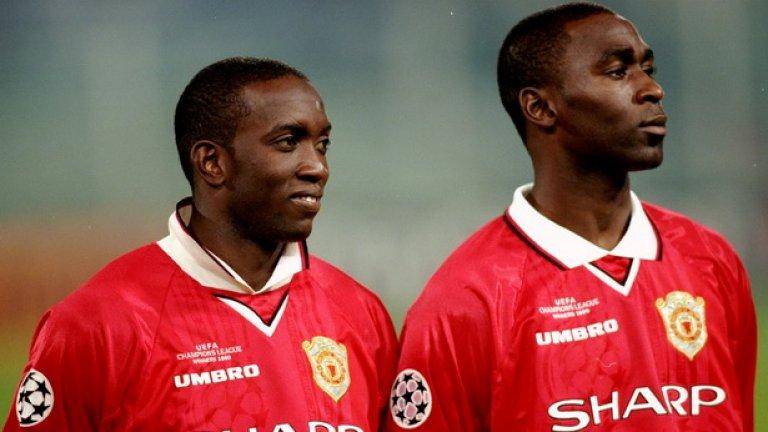Смъртоносният нападателен дует Дуайт Йорк - Анди Коул отбеляза 42 от 97-те гола през сезон 1999-2000