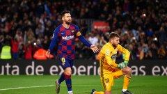 С три гола от статични положения Меси записа 34-ия си хеттрик в Испания