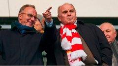 Карл-Хайнц и Хьонес някога деляха една стая при пътуванията на Байерн като футболисти, но като шефове трудно намираха обш език.