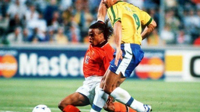 Роналдо срещу Едгар Давидс през 1998 г.
