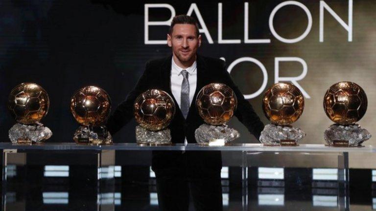 """След нелепото му пето място за приза миналата година, сега Меси беше предпочетен във вота и вече има повече """"Златни топки"""" от всеки друг в историята"""