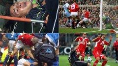 Някои контузии могат да сложат край на кариерата. Дори и да не го направят, футболистите рядко се възстановяват напълно от подобни тежки травми. Предупреждаваме, че някои от снимките са тежки за гледане.