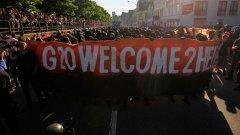 """Протестиращите посрещат световните лидери с """"Добре дошли в ада"""""""