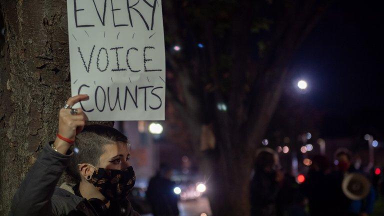 """""""Пребройте всеки глас"""" и в Бостън, Масачузетс."""