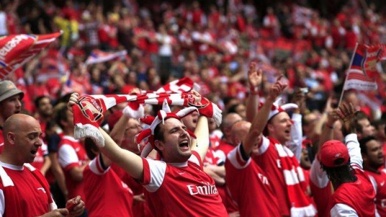 9. Арсенал - 58 927 средно на мач