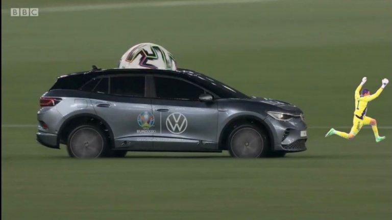 Подгонен от количката, която осигури топката за откриващия мач на Евро 2020 между Италия и Турция