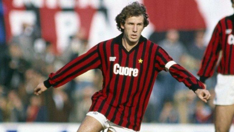 """Франко Барези, Милан - №6 Милан имаше много велики играчи през последните 2-3 десетилетия, но на едно от челните места в списъка задължително ще е Франко Барези. С над 700 мача за """"росонерите"""" и безброй трофеи - Франко е мит за """"червено-черната"""" част на Милано. Той има огромна заслуга и за израстването на Малдини, тъй като е негов ментор, когато Паоло все още е млад играч."""