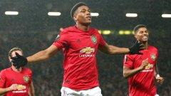 Юнайтед вкара три гола в мача, а в първите си три срещи от турнира беше отбелязал само две попадения