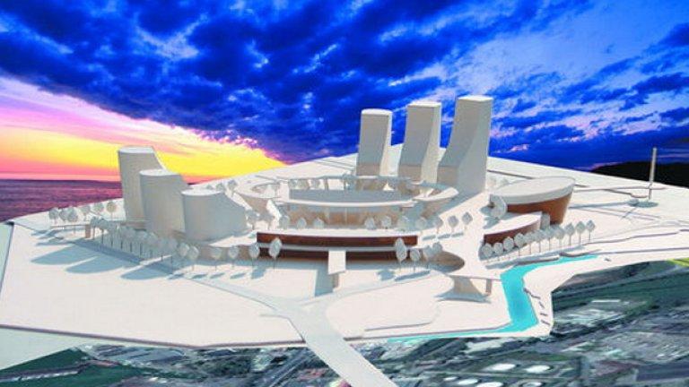 """Така ще изглежда новият стадион """"Черноморец Арена"""""""