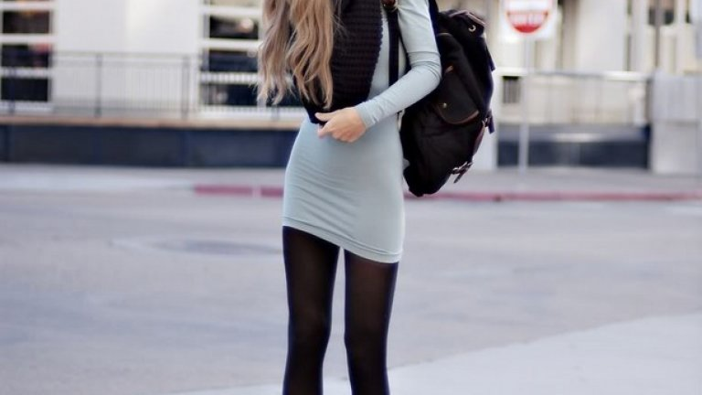 Дженифър Грейс доказва, че кецове и рокля са много добра комбинация