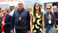 Флавио Бриаторе и 30 години по-младата му жена. Бившият управляващ директор на отборите на Бенетон и Рено във Формула 1 дълго време поддържа имидж на плейбой – излизал е с повечето от най-красивите жени в света – от Наоми Кембъл до Хайди Клум. Женен е за Елизабета Грегорачи от 2008 г., от която има син.