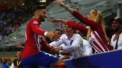 Караско вкара единствения гол, с който Атлетико излъга Байерн и го победи за втори път в рамките на няколко месеца