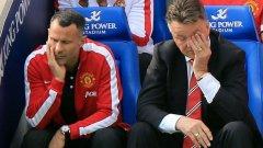 Ван Гаал и Гигс усетили нещо нередно още на загрявката преди мача с Евертън
