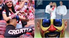 Най-добрите фенски снимки от финала при победата на Франция с 4:2 над Хърватия. Вижте ги в галерията...