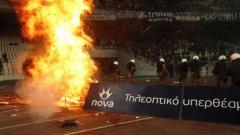 А това бяха малка част от изстъпленията, съпътстващи дербито Панатинайкос - Олимпиакос (0:3), играно на 18 март...